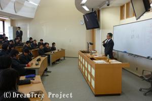 中学2年生/私立立命館宇治中学校での出前授業風景